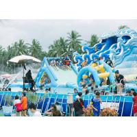 Wholesale Commercial Portable PVC Inflatable Water Pool Rectangular Metal Frame Swimming Pool from china suppliers