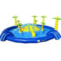 China Jungle Floating Giant Inflatable Water Playground , Fun Water Park Inflatable Pool Slide on sale