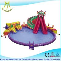 China Hansel Giant Inflatable Floating Water Park , Inflatable Water Games For Adults on sale
