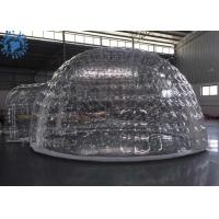 Wholesale outdoor transparent inflatable dome tent clear igloo tent for mobile hotel from china suppliers
