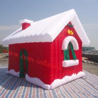 China Inflatalbe christmas products, inflatable santa house ten, inflatable christmas house tent on sale