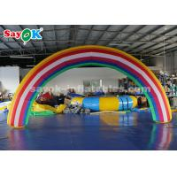 Buy cheap Rainbow Color 6*3mH Inflatable Arch for Advertisement with Blower from wholesalers