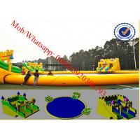 China amusement park water slide water park design giant inflatable water slide for adult on sale