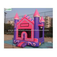 High Tear Strength Pink 3 In 1 Inflatable Jump House for SchoolLobbies