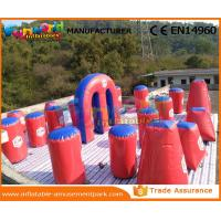 Wholesale Air Sealed Inflatable Paintball Bunkers Paintball Equipment 0.6mm PVC Tarpaulin from china suppliers