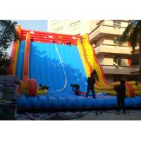 Wholesale Commercial Giant Plato 0.55mm PVC Tarpaulin Inflatable Slide For Adults 12 * 8m from china suppliers