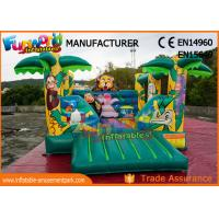 Wholesale Jungle Inflatable Air Jumping House Commercial Bouncy Castles Digital Printing from china suppliers