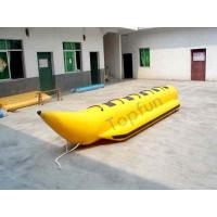 China Yellow Waterproff Banana Inflatable Fly Fishing Boats With PVC Strong Protection Black Bumper Strip on sale