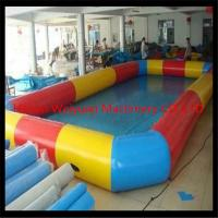 high quality 8*8m Customzied PVC0.9  wholesale square inflatable pool,colorful inflatable swimming pool