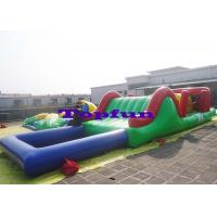 Wholesale Customized Inflatable Water Parks Obstacle / Inflatable Water Slide With Pool from china suppliers