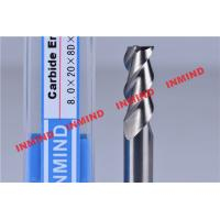 Wholesale 30º Helix Angle End Milling Cutter / Aluminum Cutting End Mills HRC50 Hardness from china suppliers