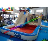 Wholesale Shark Outdoor Inflatable Water Slides  ,  Air Combo Bouncer With Water Pool from china suppliers