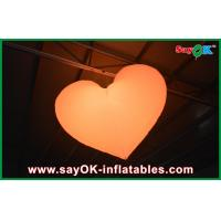 Wholesale Orange / Red Led Inflatable Light Hanging Heart For Christmas Decoration from china suppliers