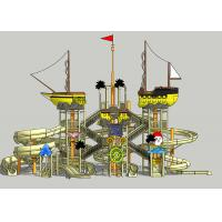 Wholesale Pirate Ship Water Theme Park / Outdoor Aqua Playground For Family from china suppliers