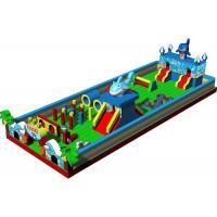Wholesale Kids Amusement Park Fun City Inflatables Castle With Dolphin And Palm Tree from china suppliers