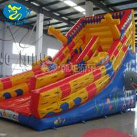China Exciting inflatable bouncy slide, inflatable castle with slide combo on sale