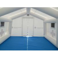 Quality inflatable air tight 0.6 mm pvc tarpaulin outdoor emergency medical tent for sale