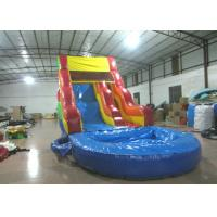 Wholesale Best sale rainbow inflatable water slide bright colour inflatable slide with pool from china suppliers