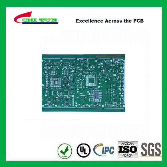 Quality Single Layer PCB Design Bare FR4 1.6MM HASLPCB Green Solder Mask for sale