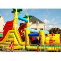 Wholesale Jungle Theme Inflatable Obstacle Course Plato 0.55 Mm PVC Material from china suppliers