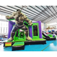 Wholesale OEM Inflatable Bounce House Combo Super Hero Bouncy Castle from china suppliers