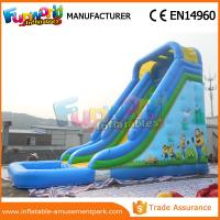 Wholesale Durable Minion Outdoor Inflatable Water Slides Inflatable Bouncer Slide With Pool from china suppliers