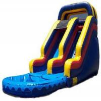 Wholesale 23 Oz Plato PVC Outdoor Commercial Inflatable Slide For Children , 6m X 4m X 4m from china suppliers