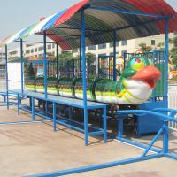 Wholesale CE ISO Standard Amusement Park Roller Coaster Cute Green Worm Shape from china suppliers