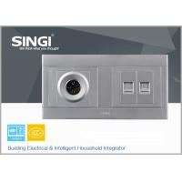 Wholesale Stainless stell and PC Wall Switch Socket tel and computer socket from china suppliers