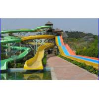 Wholesale Outdoor 3 Lane Colorfull Toddler and Adults Fiberglass Water Slides Equipment from china suppliers