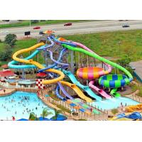 Wholesale Interactive Family Water Slide , Adult Fiberglass Residential Pool Slides from china suppliers