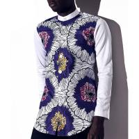 b525a7008aaff1 ... Quality Long Sleeve Lapel Men's African Print Tops, 100% Cotton  Traditional African Wear for ...