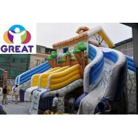 Wholesale high quality large inflatable water slide with  pool  with warranty 48months  GTWP-1636 from china suppliers