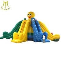 China Hansel inflatable amusement park  for kids and adultts  large inflatable slide on sale