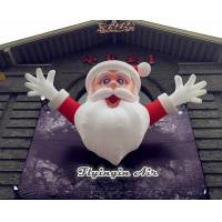 Wholesale 4m Height Christmas Inflatable Santa Claus for Outdoor Wall Decoration from china suppliers