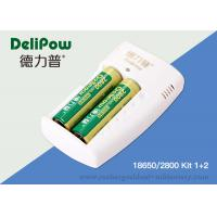 Wholesale Delipow Portable 18650 Rechargeable Lithium Battery With Charger 2800mAh from china suppliers