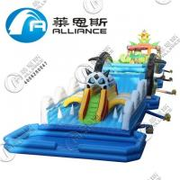 Buy cheap Amusement Park Giant Inflatable Games Inflatable Obstacle Course 3 Years from wholesalers