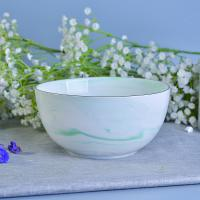 Wholesale Green Marble Ceramic Candle Bowl Vessels Wedding Decoration OEM service from china suppliers