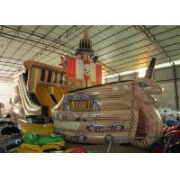 Wholesale Big Dinosaur Inflatable Pirate Ship With Slide 12 X 4.4 X 6.7m Enviroment - Friendly from china suppliers