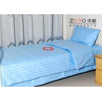 Wholesale 100% Cotton Stripe Flat Hospital Bed Sheet Disposable Light Blue Color BS-11 from china suppliers
