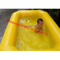 China double tubes pvc tarpaulin inflatable kids swimming pool for sale on sale