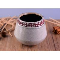 Wholesale Modern Personalized Ceramic Candle Holder , Concrete Candle Jars For Home Decoration from china suppliers