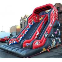 Red / Black Pirate Inflatable Pirate Ship Slide For Party 30ft