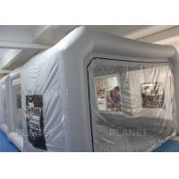 Quality Silver Protable Inflatable Spray Paint Booth 8x4x3m / Mobile Car Painting for sale