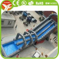 Buy cheap giant inflatable water slide for sale,inflatable double lane slip slide from wholesalers