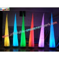Wholesale Inflatable Lighting Decoration Cone with LED changing light use for party, club,event from china suppliers