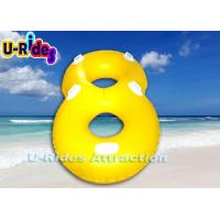 Buy cheap Yellow Inflatable River Rafts Durable , 0.55 MM Pure Pvc Twin Float Swim Ring from wholesalers