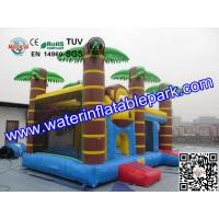Wholesale Trees Themed Inflatable Bouncy Castle With Slide / Monkey Moonwalk Moon Bounce Rental from china suppliers