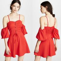 Buy cheap 2018 Women Clothing Mini Red Puff Sleeve Summer Boho Dress For Women from wholesalers