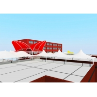 Buy cheap Cable Membrane Structure Permanent Shade Canopy For Hall Roof from wholesalers